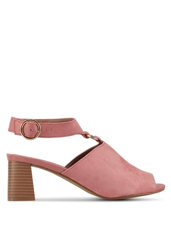 TOPSHOP pink Dazzle Heeled Sandals TO412SH0SIX2MY_1