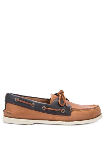 Sperry brown A/O 2-Eye Sahara Pack Boat Shoes 325EESH57897A3GS_1