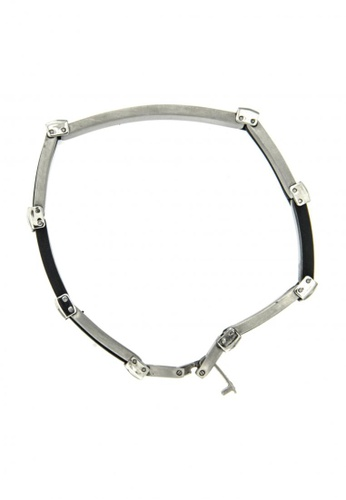 Silverworks silver Stainless Steel Gold Bracelet SI696AC55AGAPH_1