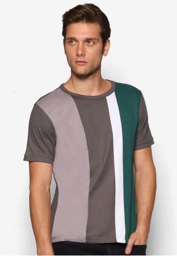色塊短袖T-shirt、 服飾、 素色T恤Marc&Giselle色塊短袖上衣最新折價