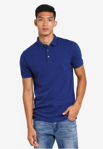 French Connection blue Ampthill Oversized Polo 7B0C9AAAE3B2C0GS_1