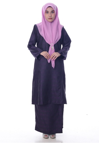 Denai Boutique purple Baju Kurung Sari E9449AA03E1AFEGS_1