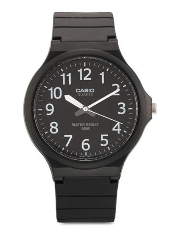 Casio black Casio Unisex Black Resin Strap Watch CA843AC69YUSMY_1