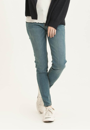 H:CONNECT blue Skinny Denim Pants 06DA0AAB448E36GS_1