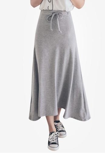 Tokichoi grey Flared Plain Maxi Skirts 06E39AA688FE59GS_1
