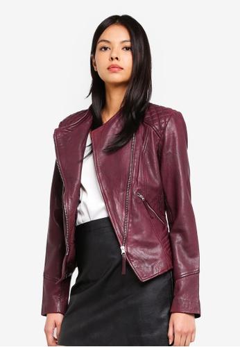ESPRIT red Outdoor Leather Regular Jacket 4BB95AA4DF04F9GS_1