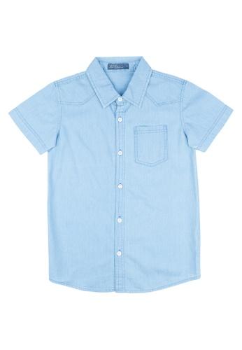 BOSSINI KIDS blue Boys Chambray Polo Short sleeves DD698KAA4F0567GS_1