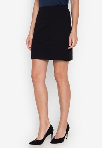 MARKS & SPENCER black Jersey Straight Mini Skirt 66D7AAAAAE43B7GS_1
