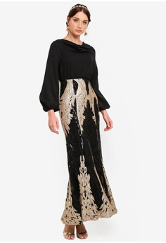 0ed2fe7c27e0 15% OFF Zalia Placement Sequin Cowl Neck Dress S  109.90 NOW S  93.90 Sizes  XS S M L XL