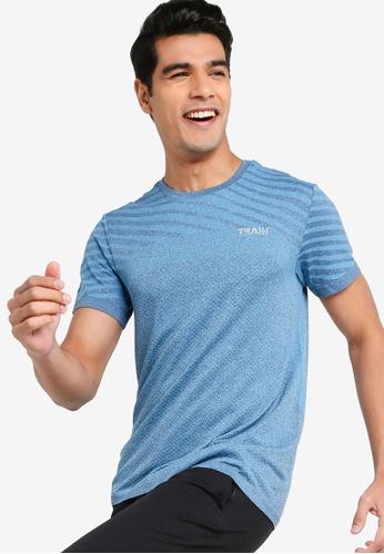 361° blue Cross Training Short Sleeves T-shirt B324FAA4B35859GS_1