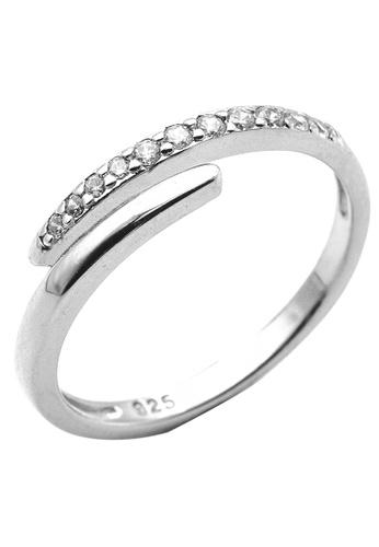 Elfi white Elfi 925 Sterling Silver Engagement Wedding Fashion Ladies Ring P37 7C685AC8DF816EGS_1