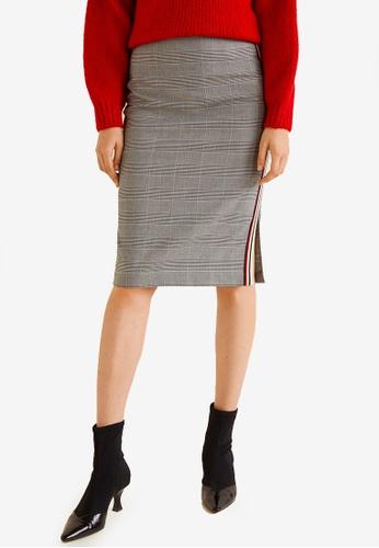 Mango black and multi Decorative Trim Skirt 048FFAA13A61E5GS_1