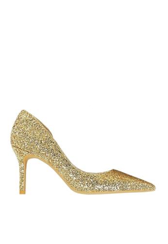 Twenty Eight Shoes 金色 單邊通幫閃片晚裝及新娘鞋 VP88621 BA682SHB10FF08GS_1