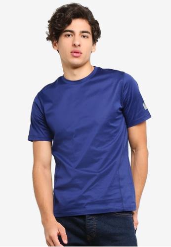 UniqTee 海軍藍色 無痕 圓領T恤 AAC22AAC4AF8E5GS_1
