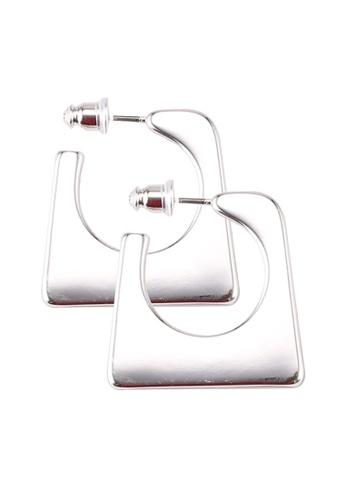 Mango silver Twisted Hoop Earrings D4C32AC9D9E69CGS_1