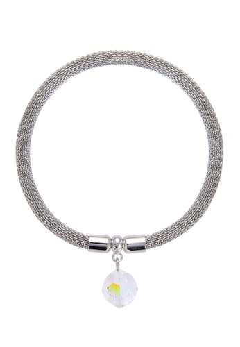 My Flash Trash silver Bikki Stainless Steel elasticity Bracelet with SWAROVSKI crystal stone 37407AC124A6D8GS_1