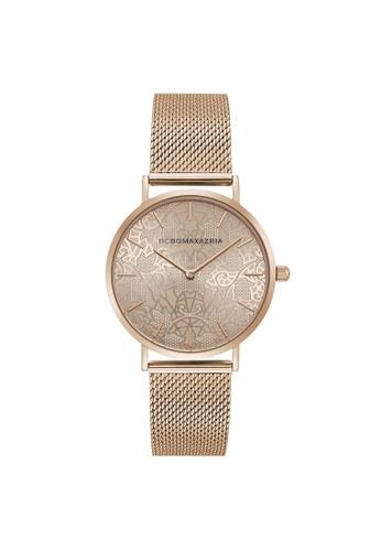 BCBG gold BCBGMAXAZRIA BG50696004 Rose Gold Stainless Steel Milanese Watch 8CA36AC012A065GS_1