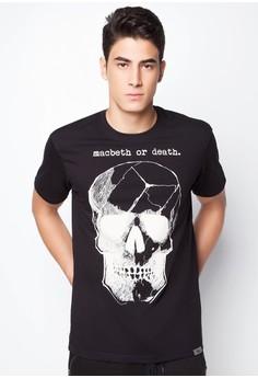 Skull Print Short Sleeves Tee