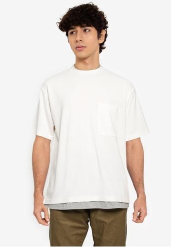 RAGEBLUE white MEN KNIT T-SHIRT 98109AAEFCCCB8GS_1