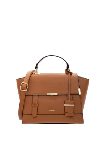 SEMBONIA brown SEMBONIA Synthetic Leather Satchel Bag (Light Brown) SE598AC0SZ81MY_1