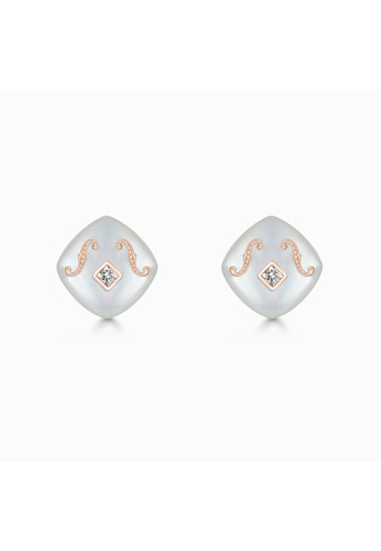 THIALH London gold THIALH London - CONCERTO Mother-of-Pearl and Diamond Earrings CME1220 04F23AC4E140A3GS_1