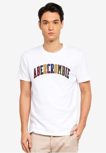 Abercrombie & Fitch 白色 LOGO印花T恤 D788BAA0F02256GS_1