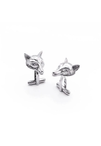 Red Stag And Hind silver Red Stag And Hind Silver Wolf Cufflinks 29303AC6D863DBGS_1