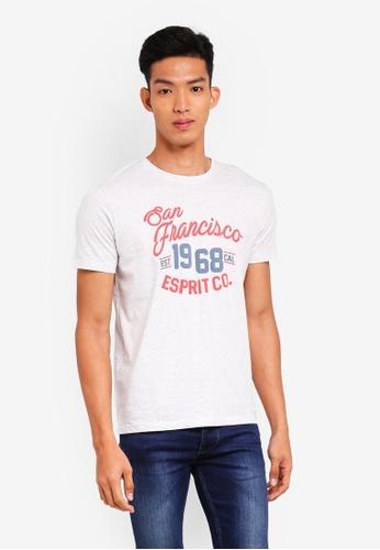 ESPRIT white Short Sleeve T-Shirt F8733AA8A61F19GS_1
