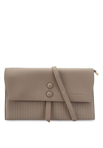 PLAYBOY BUNNY grey Clutch Sling Bag 683BCACAB90565GS_1