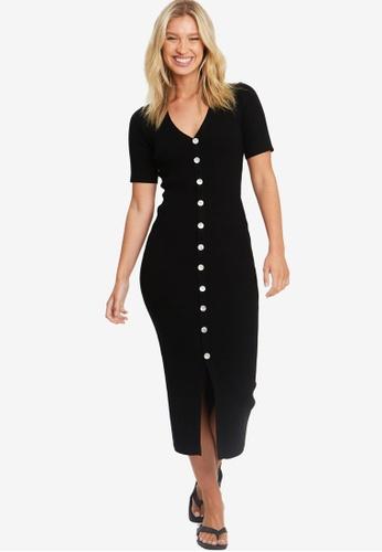 The Fated black Lilli Midi Dress 31152AADB3D4F2GS_1