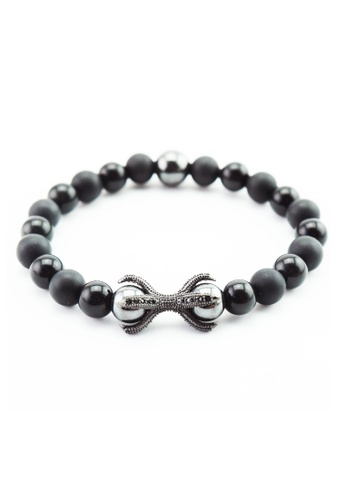 Memento Collection black Signature Obsidian Bracelet ME060AC64HEDMY_1
