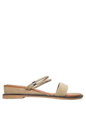 Twenty Eight Shoes beige Two Ways of Wearing Low Heels VSZ07 2F4A3SHEC12A0BGS_1