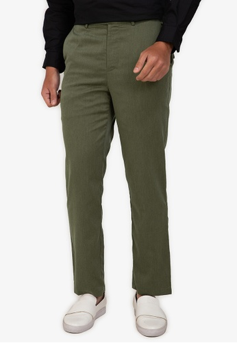 ZALORA BASICS green Straight Leg Trousers D2DA0AA02F78DDGS_1