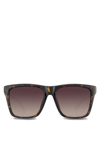 印花方框太陽眼鏡, 飾品zalora退貨配件, 方框