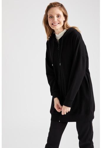DeFacto black Long Sleeve Full-Zip Tunic 232A1AA7E84121GS_1