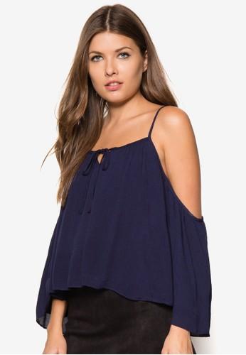 喇叭袖挖肩傘擺上衣zalora時尚購物網的koumi koumi, 服飾, 服飾
