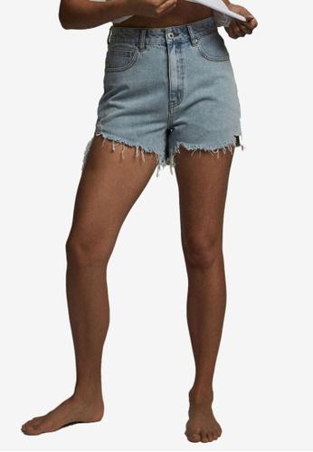 Cotton On blue High Ripped Denim Shorts 1D6A4AAB543385GS_1
