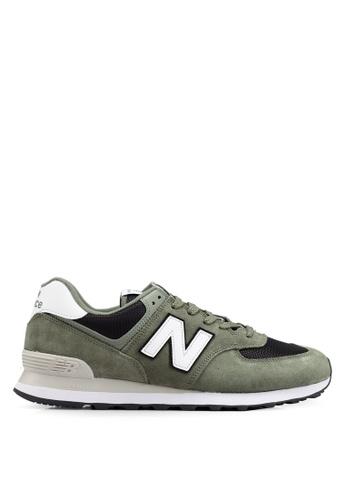 New Balance green 574 Lifestyle Shoes ECADDSH1DBECF8GS_1
