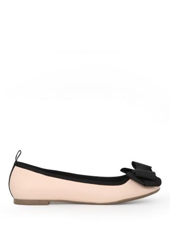 London Rag 米褐色 LONDON RAG 女式裸色平底芭蕾舞鞋 0F793SH6E4CEDCGS_1