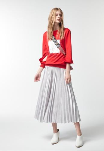 iROO red Basic Sweater 98567AA8055DB3GS_1