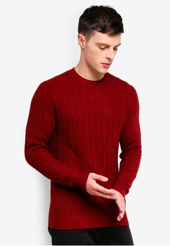 MANGO Man 紅色 羊毛上衣 1D2FBAA41043CDGS_1