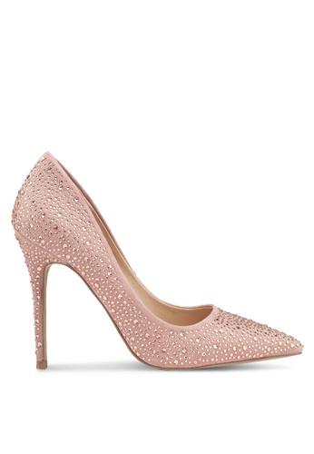 Miss Selfridge pink Coco Embellished Court Heels B5347SH88FE8E0GS_1