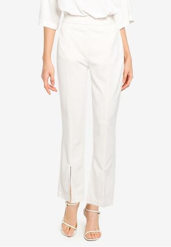 JEANASIS white Splice Hem Pants 221CAAAD61B504GS_1