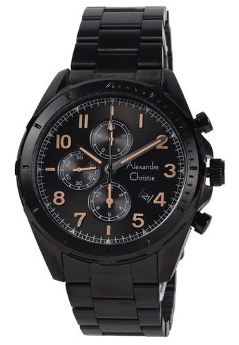 Alexandre Christie black Alexandre Christie - Jam Tangan Pria - Black - Stainless Steel Bracelet - 6556MCBIPBAIV 2AAD5ACAD1478DGS_1