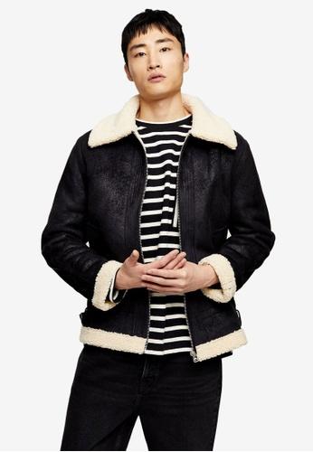 Topman black Black And Ecru Tape Jacket F9EBAAAA6B24D5GS_1