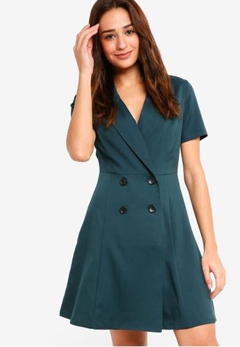ZALORA green Blazer Dress 3A82DAA65AE8BAGS_1