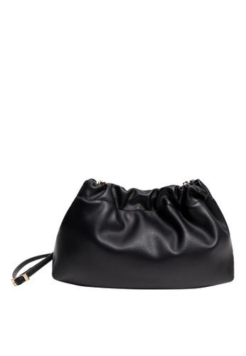 Violeta by MANGO black Pleated Volume Bag CBD57AC3FD9447GS_1