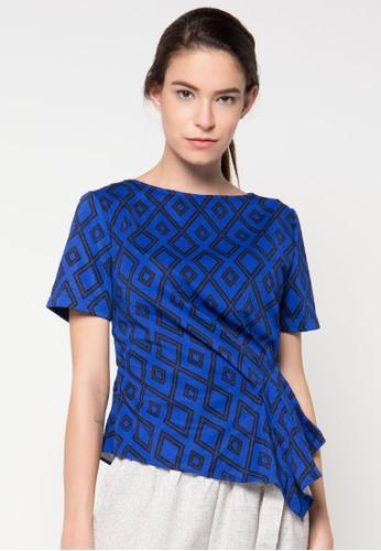 Raspberry blue Katrina Sleeve Blouse RA572AA30DUFID_1