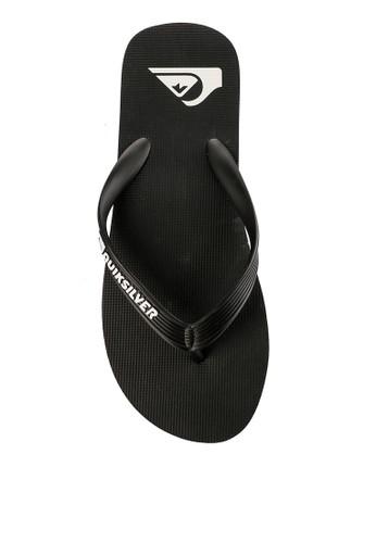 Quiksilver black Molokai Sandal 387E2SH8534ADFGS_1