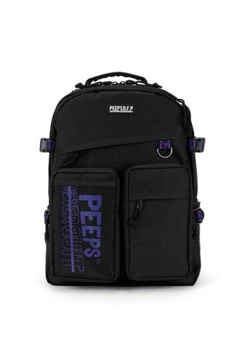 Peeps black and purple Advance Backpack A5962ACA1942B4GS_1